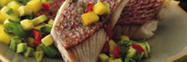 Grilled Snapper with Mango Salsa